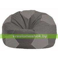 Кресло мешок Мяч тёмно-серый - серый М 1.1-366