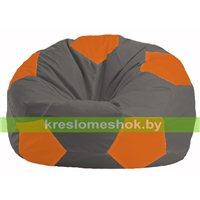 Кресло мешок Мяч тёмно-серый - оранжевый М 1.1-363