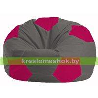 Кресло мешок Мяч тёмно-серый - малиновый М 1.1-371