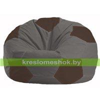 Кресло мешок Мяч тёмно-серый - коричневый М 1.1-470