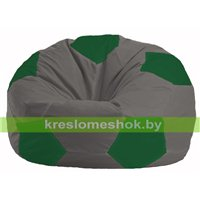 Кресло мешок Мяч тёмно-серый - зелёный М 1.1-361