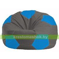 Кресло мешок Мяч тёмно-серый - голубой М 1.1-359