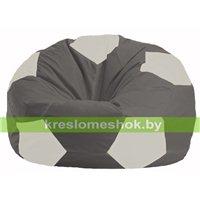 Кресло мешок Мяч тёмно-серый - белый М 1.1-357