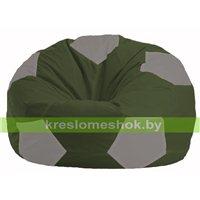 Кресло мешок Мяч тёмно-оливковый - серый М 1.1-53