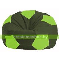 Кресло мешок Мяч тёмно-оливковый - салатовый М 1.1-55