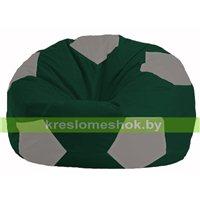 Кресло мешок Мяч тёмно-зелёный - серый М 1.1-61