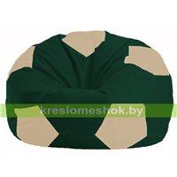 Кресло мешок Мяч тёмно-зелёный - светло-бежевый М 1.1-62
