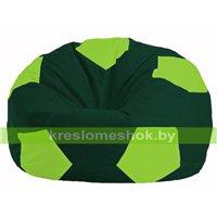 Кресло мешок Мяч тёмно-зелёный - салатовый М 1.1-63
