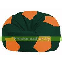 Кресло мешок Мяч тёмно-зелёный - оранжевый М 1.1-64