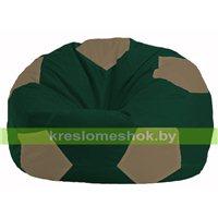Кресло мешок Мяч тёмно-зелёный - бежевый М 1.1-60