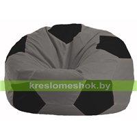 Кресло мешок Мяч серый - чёрный М 1.1-354