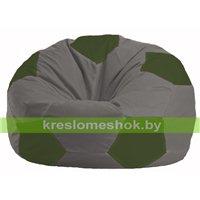 Кресло мешок Мяч серый - тёмно-оливковый М 1.1-350