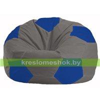 Кресло мешок Мяч серый - синий М 1.1-345