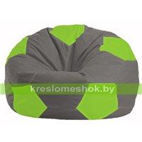 Кресло мешок Мяч серый - салатовый М 1.1-343