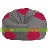 Кресло мешок Мяч серый - малиновый М 1.1-353