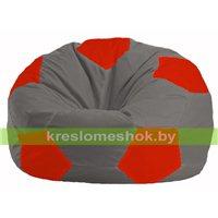 Кресло мешок Мяч серый - красный М 1.1-332