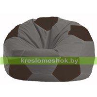 Кресло мешок Мяч серый - коричневый М 1.1-340