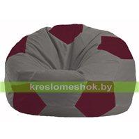 Кресло мешок Мяч серый - бордовый М 1.1-336