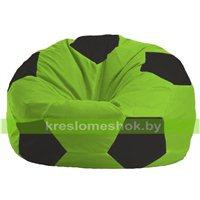 Кресло мешок Мяч салатово - чёрное 1.1-153