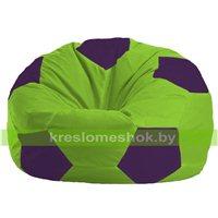 Кресло мешок Мяч салатово - фиолетовое 1.1-155