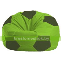 Кресло мешок Мяч салатово - тёмно-оливковое 1.1-157