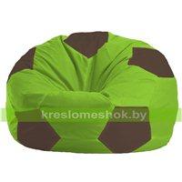 Кресло мешок Мяч салатово - коричневое 1.1-165