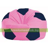 Кресло мешок Мяч розовый - тёмно-синий М 1.1-192