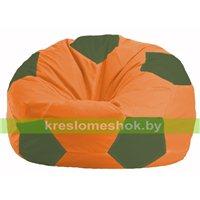 Кресло мешок Мяч оранжевый - тёмно-оливковый М 1.1-211