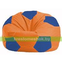 Кресло мешок Мяч оранжевый - синий М 1.1-213
