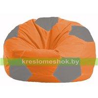 Кресло мешок Мяч оранжевый - серый М 1.1-214