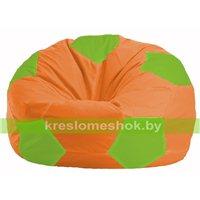 Кресло мешок Мяч оранжевый - салатовый М 1.1-215