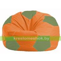 Кресло мешок Мяч оранжевый - оливковый М 1.1-216