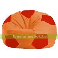 Кресло мешок Мяч оранжевый - красный М 1.1-217