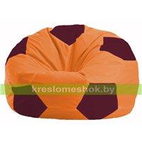 Кресло мешок Мяч оранжевый - бордовый М 1.1-222