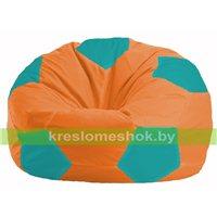 Кресло мешок Мяч оранжевый - бирюзовый М 1.1-223