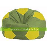 Кресло мешок Мяч оливковый - жёлтый М 1.1-288
