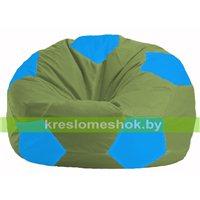 Кресло мешок Мяч оливковый - голубой М 1.1-229