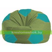 Кресло мешок Мяч оливковый - бирюзовый М 1.1-230
