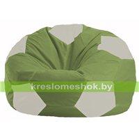 Кресло мешок Мяч оливковый - белый М 1.1-231