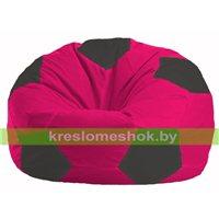 Кресло мешок Мяч малиновый - чёрный М 1.1-381