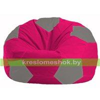 Кресло мешок Мяч малиновый - серый М 1.1-374