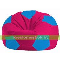 Кресло мешок Мяч малиновый - голубой М 1.1-385