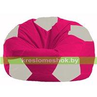 Кресло мешок Мяч малиновый - белый М 1.1-382