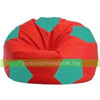 Кресло мешок Мяч красно - бирюзовое 1.1-182