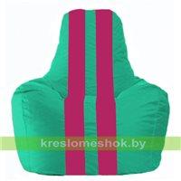 Кресло-мешок Спортинг бирюзовый - лиловый С1.1-284