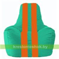 Кресло-мешок Спортинг бирюзовый - оранжевый С1.1-296