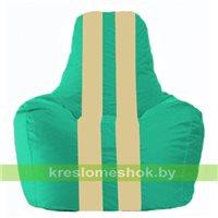 Кресло-мешок Спортинг бирюзовый - светло-бежевый С1.1-293