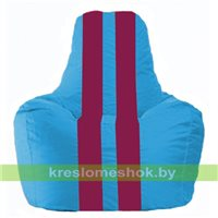 Кресло-мешок Спортинг голубой - лиловый С1.1-268