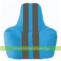 Кресло-мешок Спортинг голубой - тёмно-серый С1.1-270