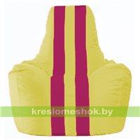 Кресло-мешок Спортинг жёлтый - лиловый С1.1-246